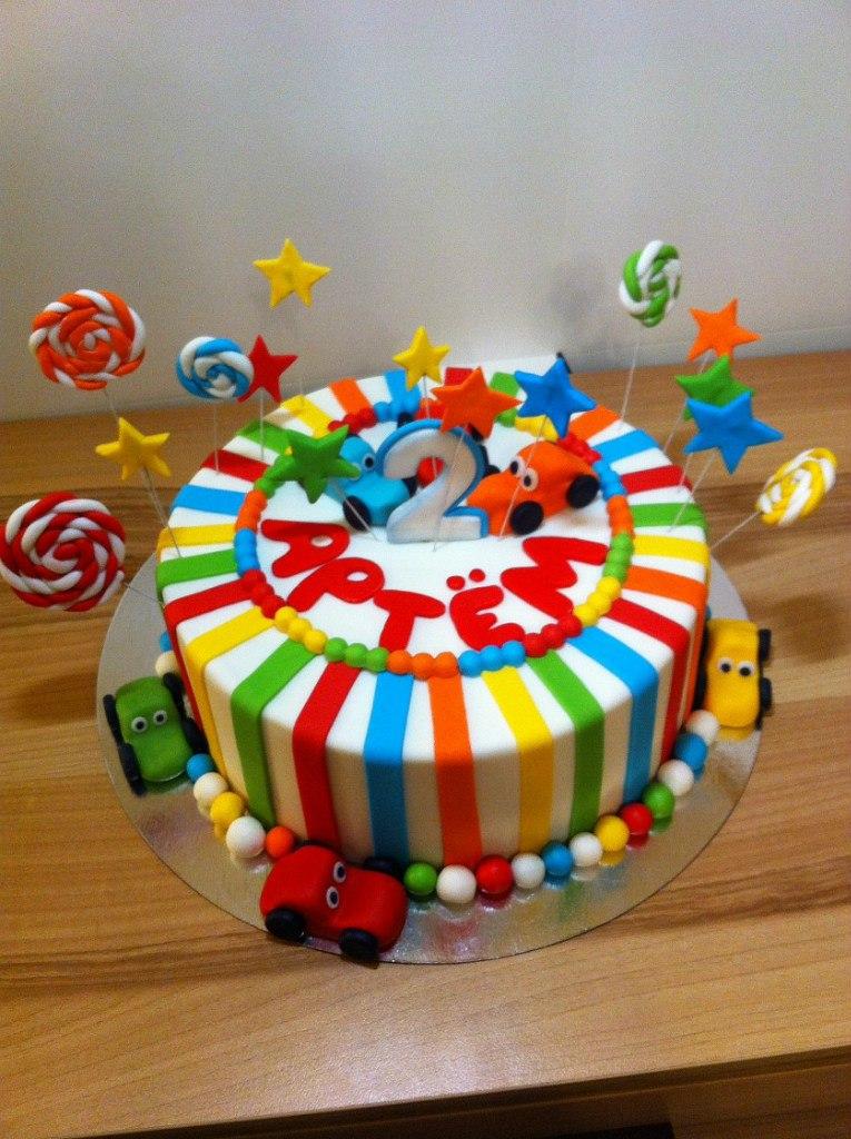 Торт для мальчика 2 лет своими руками 10